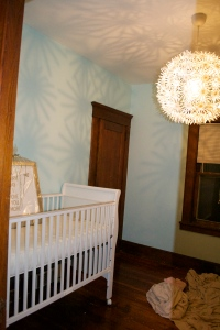 A total work-in-progress, but Baby G now has somewhere to sleep!